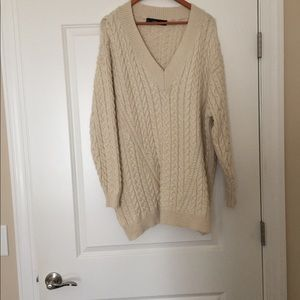 Zara Oversized V-Neck Sweater